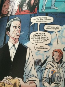 "A panel from the first Twelfth Doctor comic story in Doctor Who Magazine, ""The Eye of Torment"""