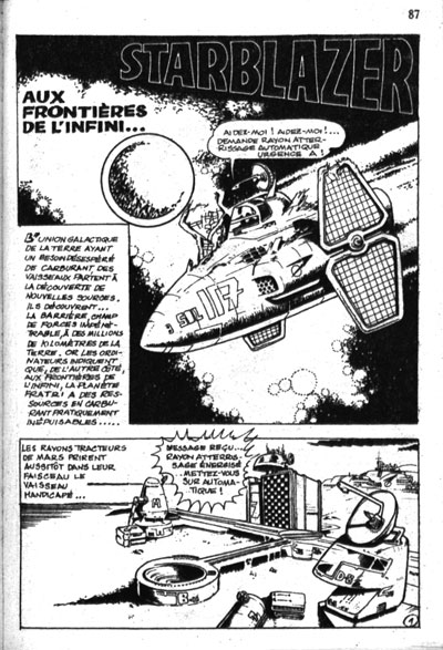 Interior art for Aux Frontières De L'Infini (The Edge Of Infinity) which ran in Super Force #1