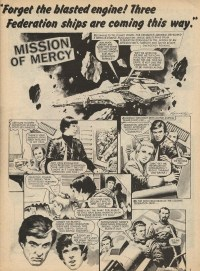 A page from Marvel UK's yet-to-be-collected Blake's 7 comic. Art by Ian Kennedy.