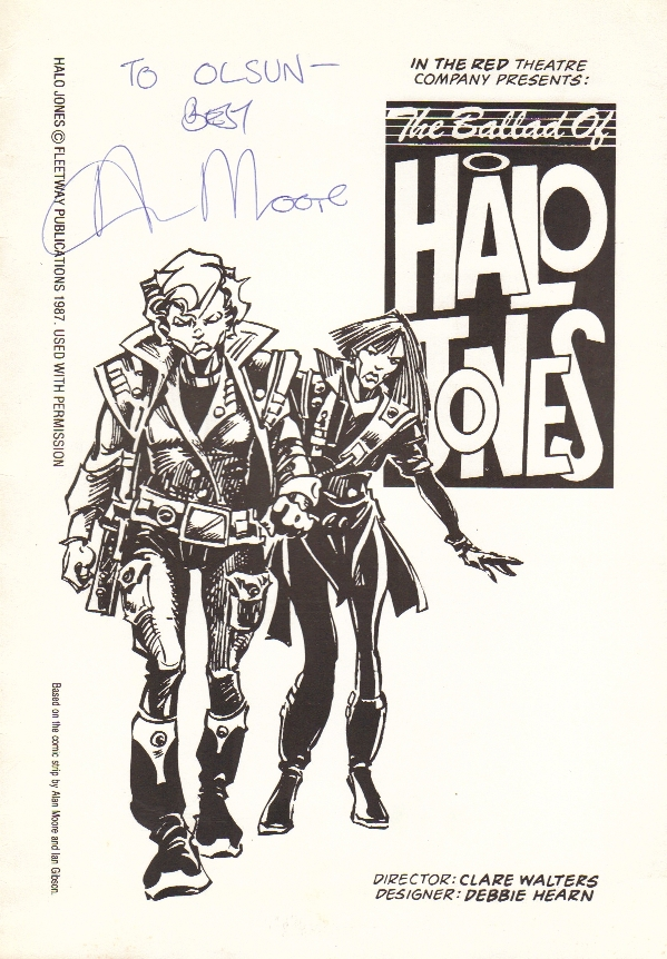 The cover of In The Red Theatre Company's 1987 Ballad of Halo Jones stage play programme, designed by John Freeman