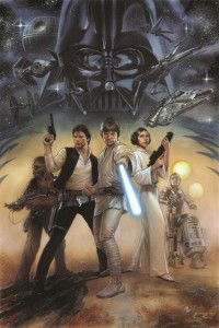 Adi Granov's cover for the new Star Wars: A New Hope hardcover edition.