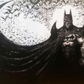Batman: Dark Night' Original Painting Ink & Acrylic 59x84cm. Artwork donated by Clint Langley for the BOAT auction.