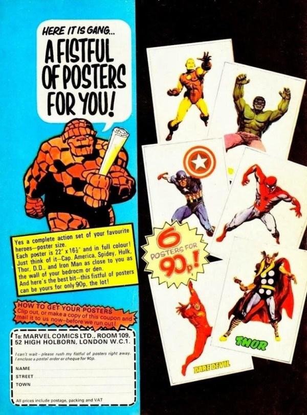 Marvel UK Poster Ad