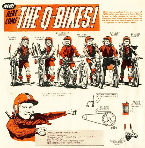 "An introduction to ""The Q-Bikes"", drawn by Andy Hutton. © DC Thomson"