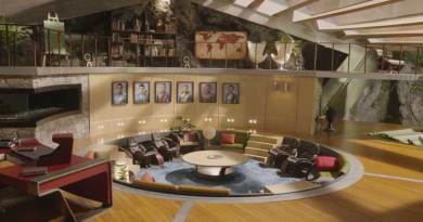 A closer shot of the lounge displaying all five Tracy borthers and, presumably, Kayo (voiced by Angel Coulby) the character who seems to have replaced TinTin in the new show.