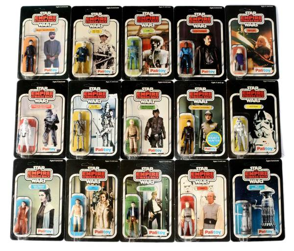 Figures from the second auction of the Craig Stevens Palitoy Figure Collection