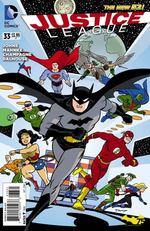 Justice League cover by Darwyn Cooke