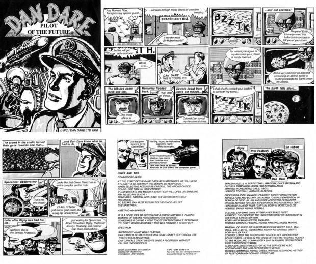A promotional comic created to promote Virgin's Dan Dare: Pilot of the Future Game