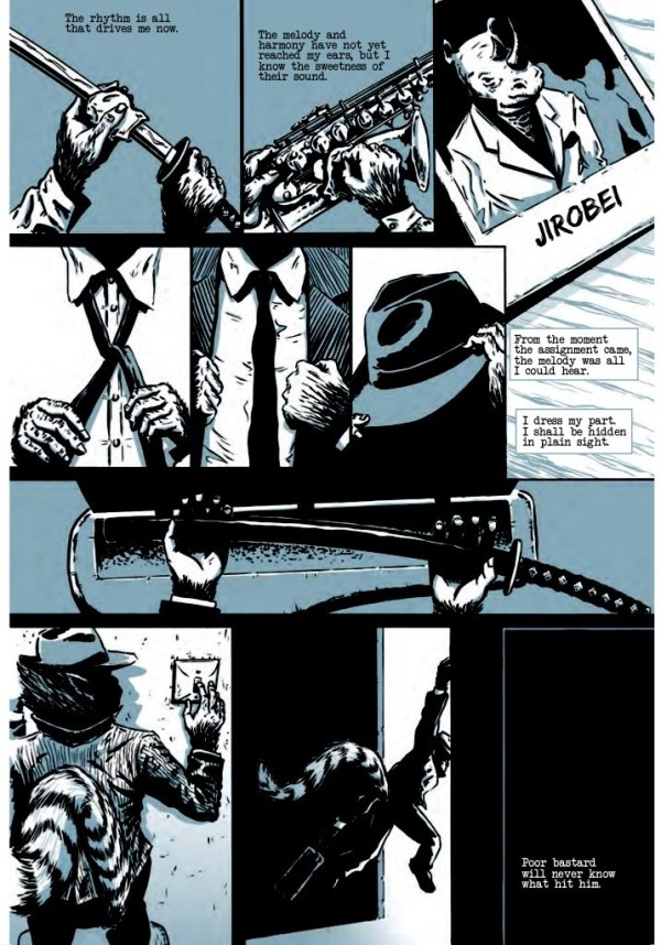 Toots Malloy: Blues Ninja Issue 1 - Sample Page 1
