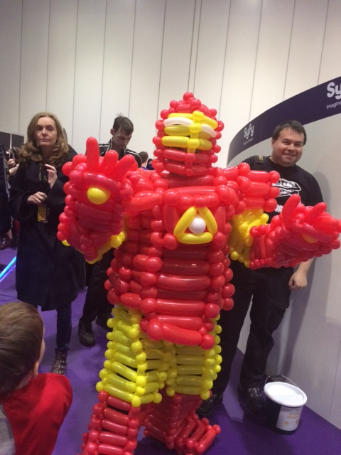 Balloon Iron Man at #LSCC2015. Photo: Antony Esmond