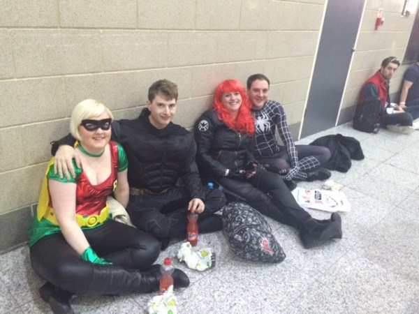 Some of the many Cosplayers take a break at London Super Comic Con 2015. Photo: Antony Esmond