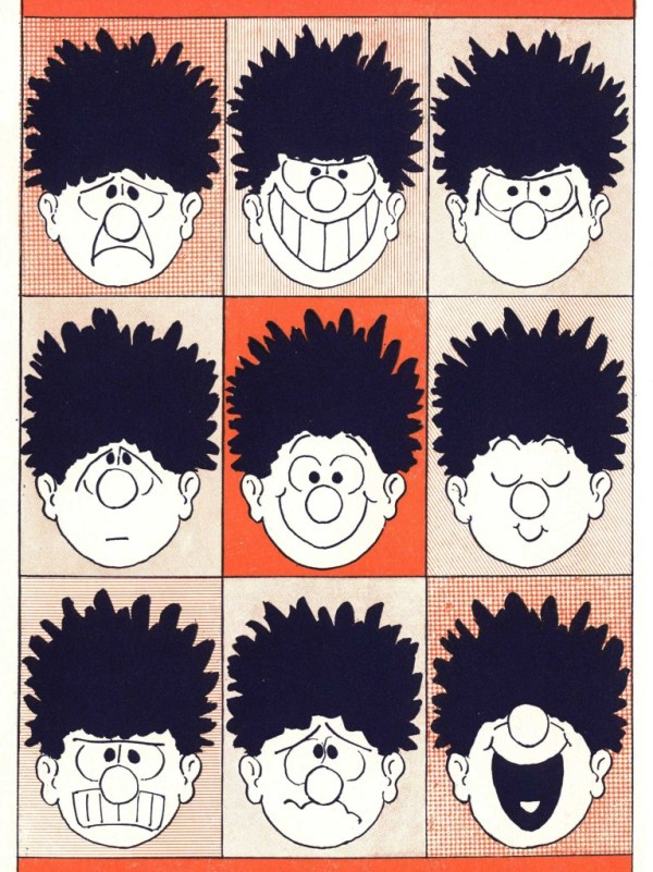 Nigel Parkinson's inspiration for the Beano 2015 Red Nose Day cover.