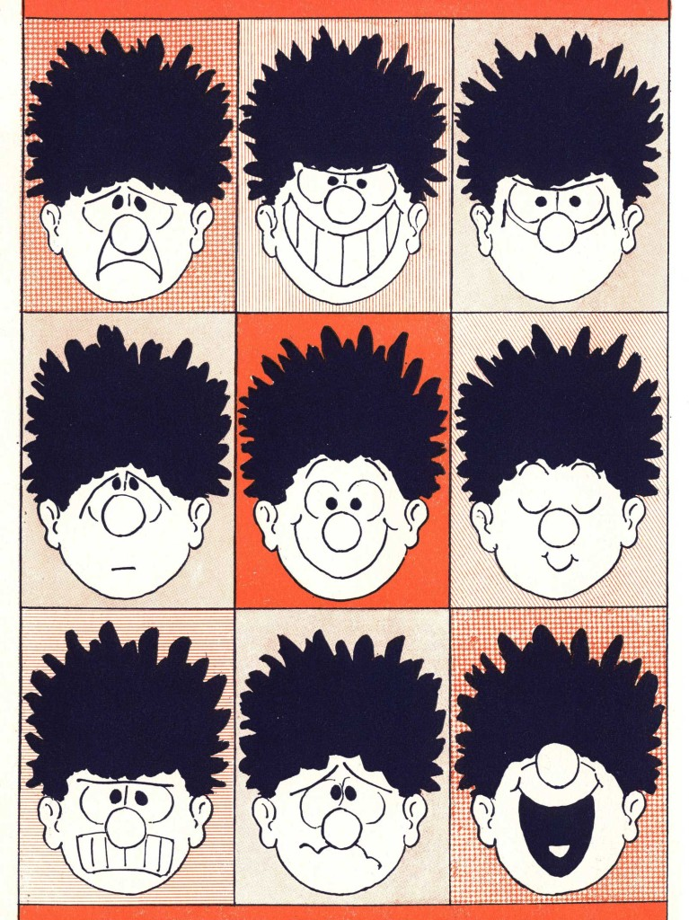 Classic modern art from the 1963 Beano Book