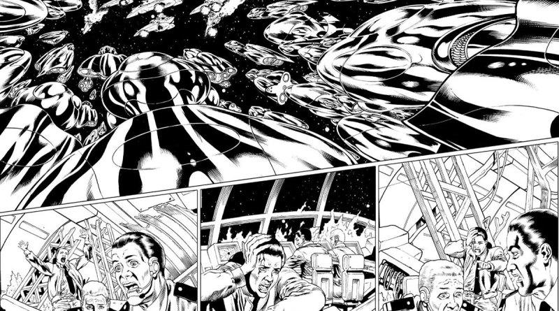 Artwork for Virgin Comics Dan Dare series by Gary Erskine