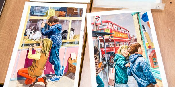 Vintage Ladybird Art. Photo: UAL