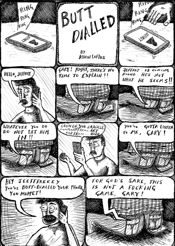Dirty Rotten Comics 4: 'Butt Dialled' by Kevin Loftus