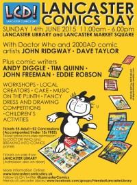 Lancaster Comics Day 2015 Poster
