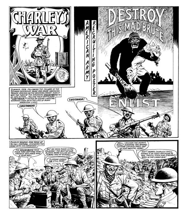 "A page from ""Charley's War"" featured in Volume 10 of the the Titan Books series."