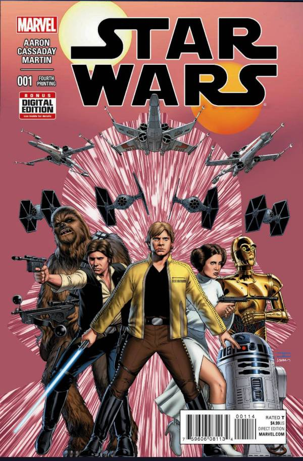 Star Wars #1 Cassaday 4th Printing Variant