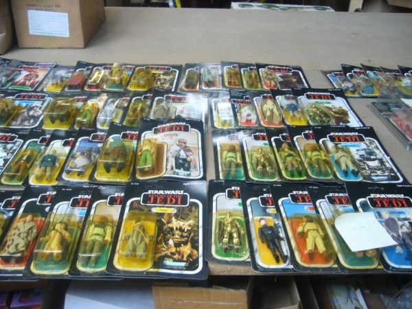 Just some of the many Star Wars figures that will be auctioned at the end of April by Vectis. Image: Vectis