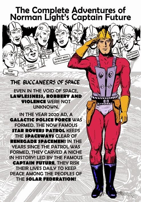 Captain Future Back Cover