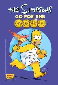 The Simpsons Go For Gold - Cover