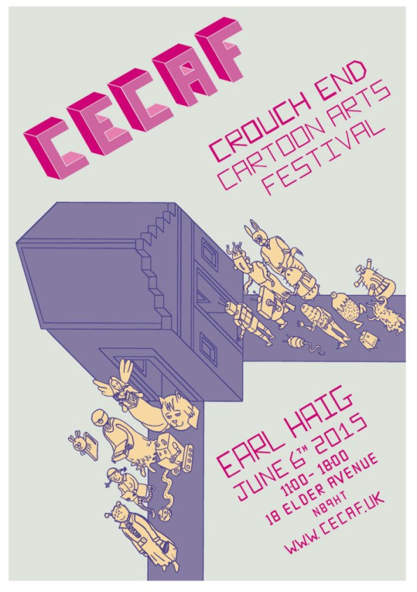 Crouch End Comic Art Festival 2015 Poster