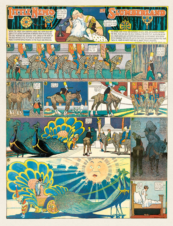 A page from Little Nemo from 1906, which is one of RAW founder and New Yorker art editor Françoise Mouly's favourites.