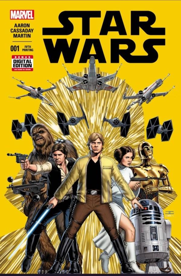 Star Wars #1 Cassaday – Fifth Printing Variant