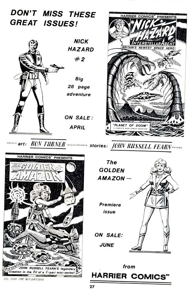Harrier Comics: Unpublished Ron Turner Titles