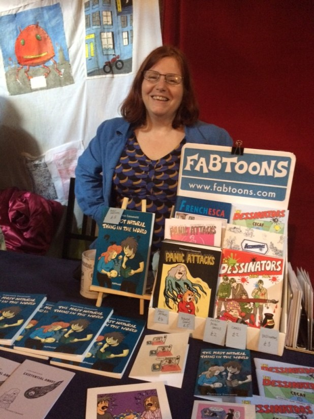 Francesca Cassavetti at Crouch End Comic Arts Festival 2015. Photo: Antony Esmond