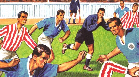 art from The Story of Football, illustrated by Jack Matthew