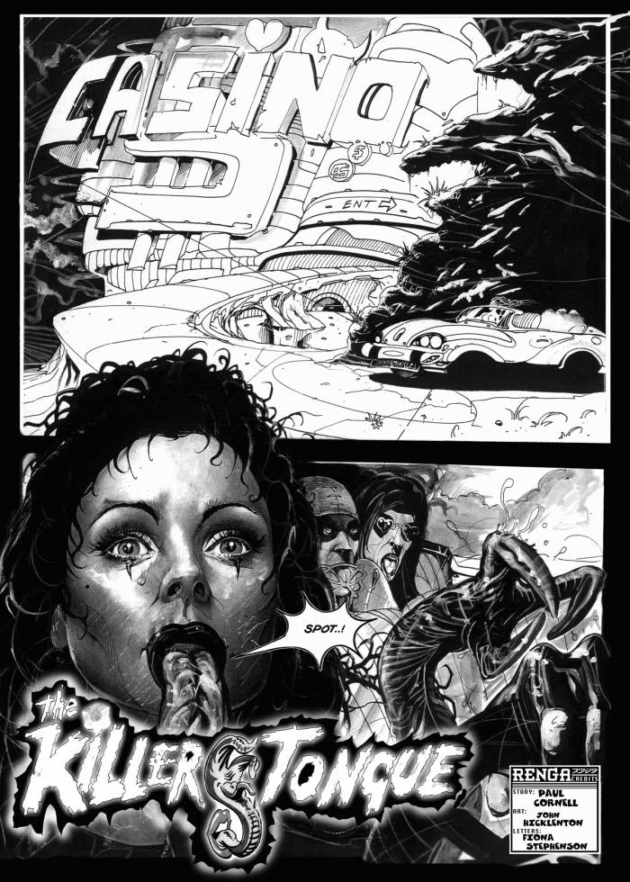"""Killer Tongue"", written by Paul Cornell and drawn by John Hicklenton"