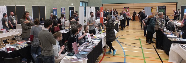 Wonderlands 2015 Publisher's Hall with a selection of dealers, publishers, creators and small press. Photo: Jeremy Briggs