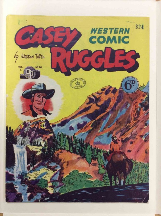 A British edition of the long-running Casey Ruggles Western Comic, published in the UK by  Donald F. Peters Ltd and distributed by L. Miller.