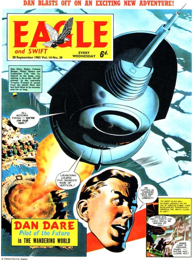 "Changes on the Eagle - despite great art from Keith Watson on ""Dan Dare"" and the contiuation of ""Heros the Spartan"" by Frank Bellamy - were not well received by its readers, and sales began to fall."