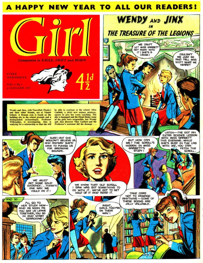 The first issue of Volume 6 of Girl, published in 1957