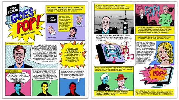 BBC4 Goes Pop Graphic by John Riordan