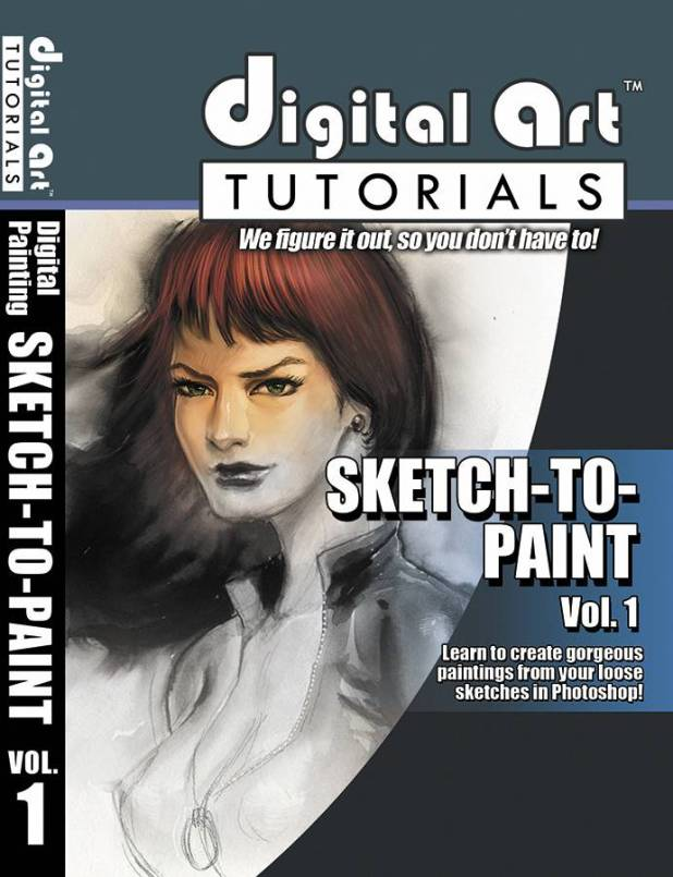 Digital Art Tutorials Sketch To Paint