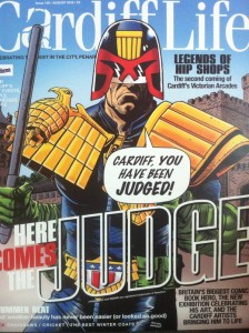 Cardiff Life Judge Dredd Cover