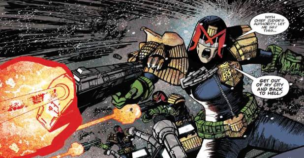 Chief Judge down? Henry Flint's on Judge Dredd for 2000AD Prog 1944. © Rebellion