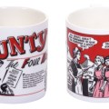 "Mugs based on art from Bunty's long-running ""The Four Mary's"" strip"