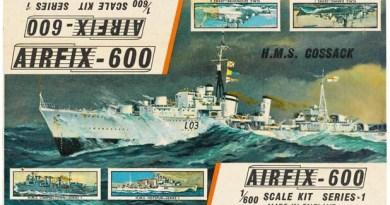Airfix Kit Art: HMS Cossack