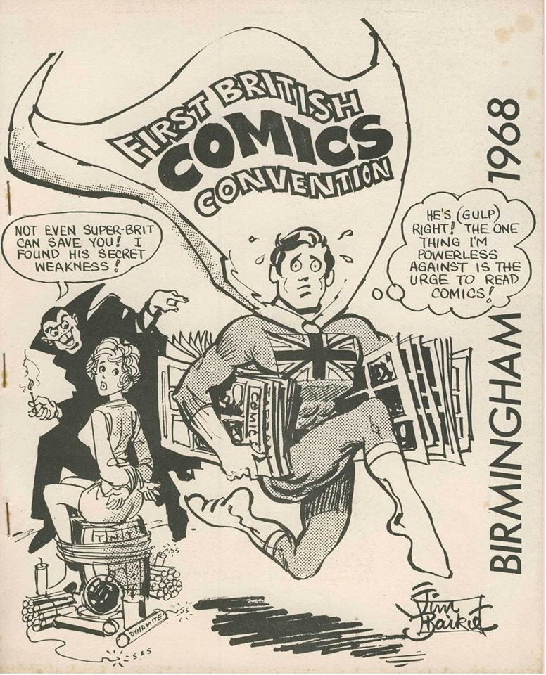 Jim Baikie's cover for the first British comic convention booklet in 1968