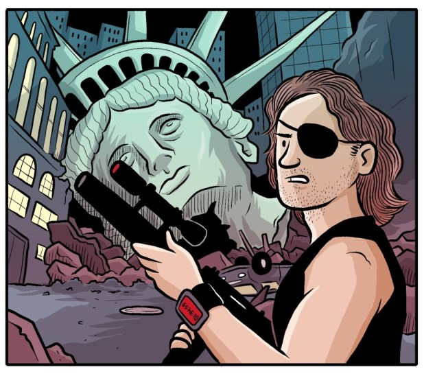 Escape From New York, as featured in Filmish - A Graphic Journey Through Film by Edward Ross.