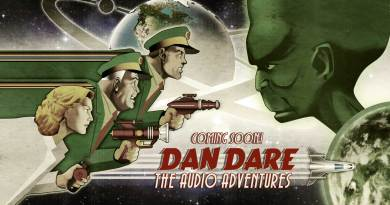 Promotional art for the new Dan Dare audio drama by Pete Hambling