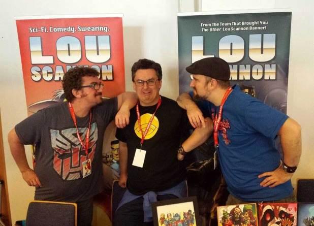 Kris Carter, Jim Bampfield and Dan Harris, creators of Lou Scannon. Photo: Jon Laight