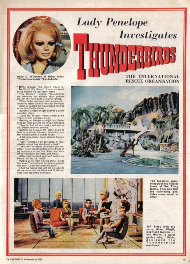 Another teaser for Thunderbirds, in TV21 Issue 44, in the run up to the strip's eventual debut In Issue 52 in January 1966