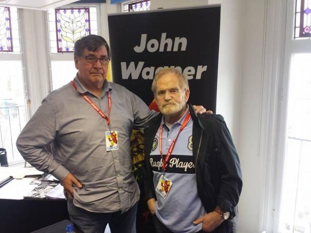 John Wagner and Carlos Ezquerra. Photo: Jon Laight