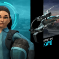 "Thunderbirds Are Go's covert ops specialist Kayo, and her ""Shadow"" craft. Image © ITV"